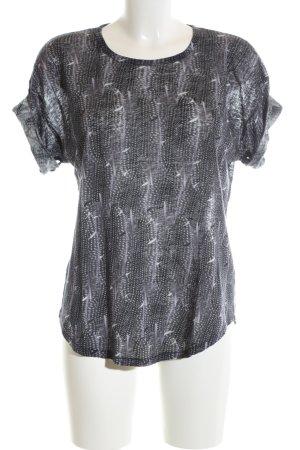 Isabel Marant pour H&M Kurzarm-Bluse schwarz-weiß abstraktes Muster