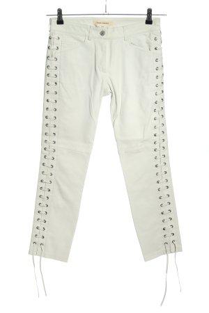 Isabel Marant pour H&M Leren broek lichtgrijs casual uitstraling