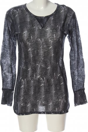 Isabel Marant pour H&M Longshirt schwarz-weiß Allover-Druck Casual-Look