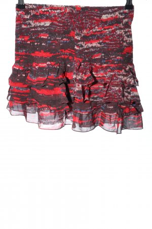 Isabel Marant pour H&M Flounce Skirt red-brown abstract pattern casual look