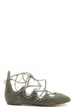 Isabel Marant Strappy Ballerinas khaki casual look