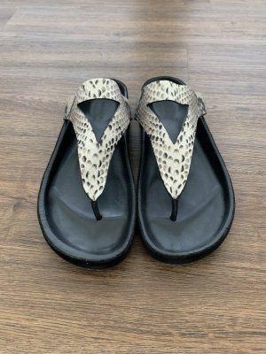 Isabel Marant Toe-Post sandals black-cream leather