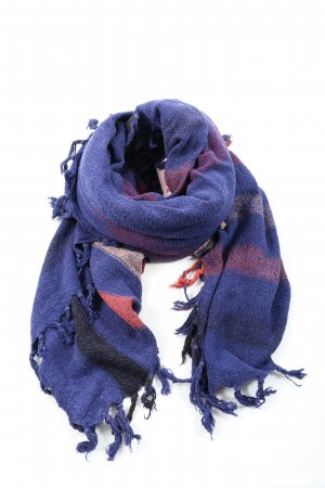 Isabel Marant Shoulder Scarf blue-red striped pattern casual look