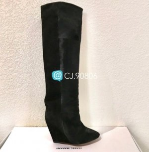 Isabel Marant Sheila Calf / Ponny Wedge Boots Gr. 37