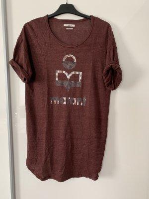 Isabel Marant Long Shirt brown linen