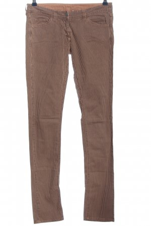 Isabel Marant Slim Jeans braun-nude Streifenmuster Casual-Look