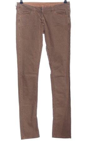 Isabel Marant Slim Jeans braun-nude Streifenmuster Casual-Look