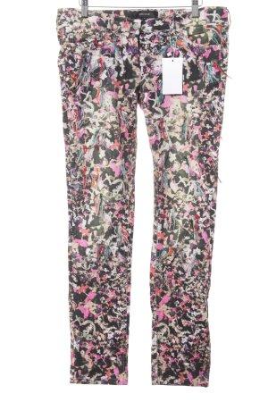 Isabel Marant Slim Jeans abstraktes Muster extravaganter Stil