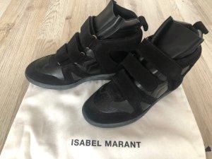 Isabel Marant Sneaker con zeppa nero