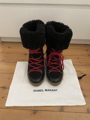 Isabel Marant Stiefel Stiefeletten Mytheresa Top Fell Pelz Lammfell Snowboots Ski