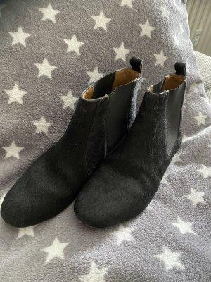 Isabel Marant Stiefeletten Fell 38 schwarz top