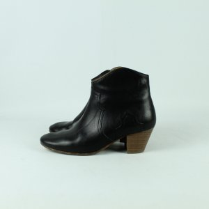 ISABEL MARANT Stiefeletten Gr. 38 schwarz Leder Modell: Dicker (20/11/102*)