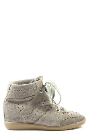 Isabel Marant Sneaker con zeppa grigio chiaro stile casual