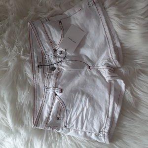 Isabel Marant Jeansowe szorty biały-czerwony