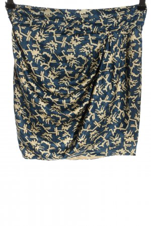 Isabel Marant Shoulder Scarf blue-cream abstract pattern casual look