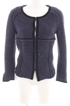 Isabel Marant Blazer in lana blu-nero puntinato stile casual