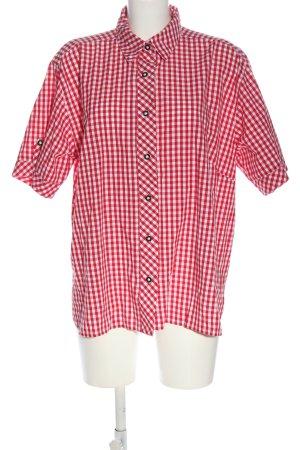 Isar Trachten Tradycyjna koszula czerwony-biały Na całej powierzchni
