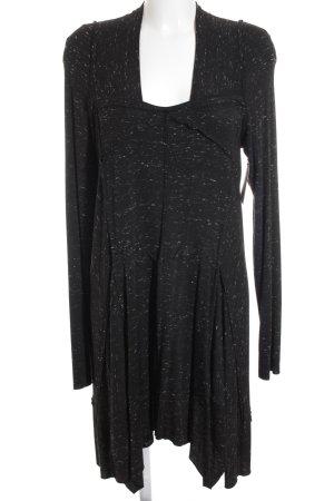 Ischiko A Line Dress black-white flecked classic style