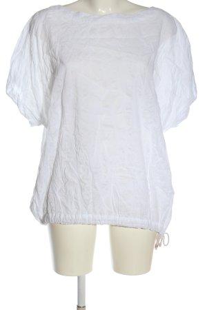 Ischiko Short Sleeved Blouse white allover print casual look