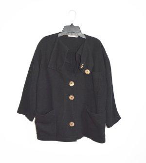 Ischiko Walkjacke Jacke gewalkt schwarz wolljacke Lagenlook M L