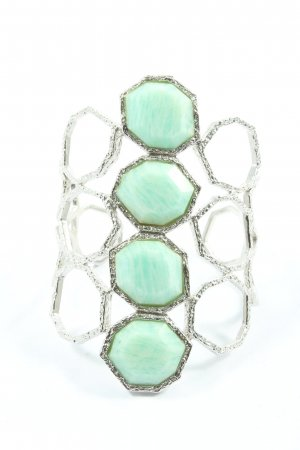 Isharya Armlet silver-colored-turquoise casual look