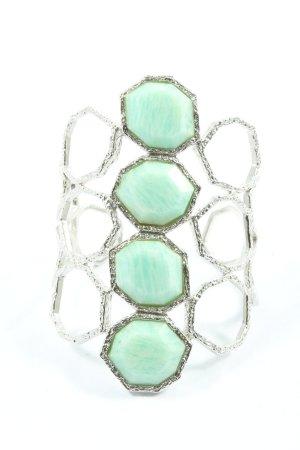 Isharya Bracelet de bras argenté-turquoise style décontracté