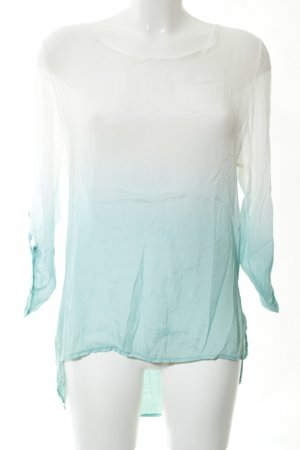 iSilk Batik Shirt white-turquoise color gradient casual look