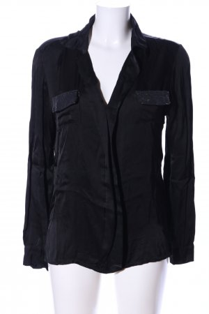 iSilk Langarm-Bluse schwarz Casual-Look
