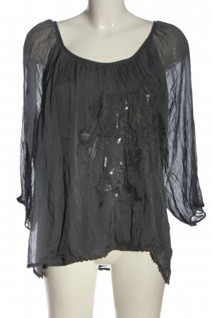 iSilk Langarm-Bluse hellgrau Casual-Look