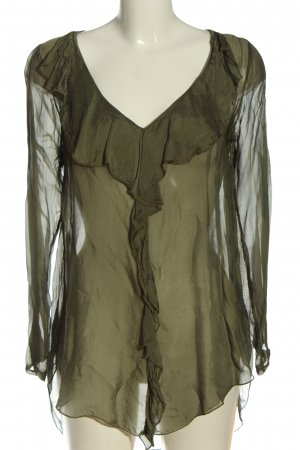 iSilk Langarm-Bluse khaki Casual-Look
