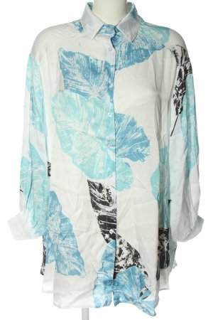iSilk Long-Bluse Allover-Druck Casual-Look
