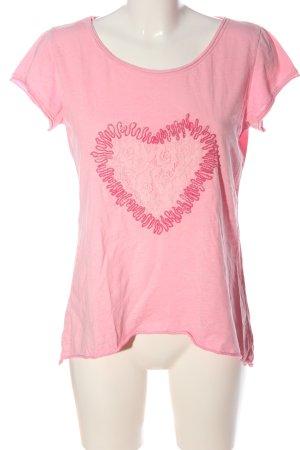 iSilk Print-Shirt pink meliert Casual-Look