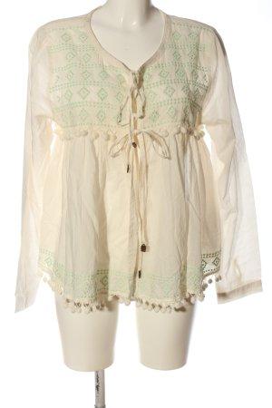 Isla Ibiza Bonita Blouse portefeuille blanc cassé-vert style classique