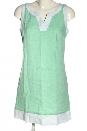 ismeralda Blusenkleid grün-weiß Casual-Look