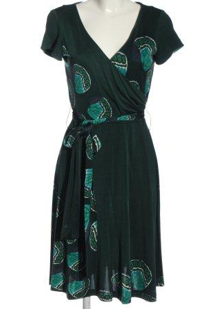 Issa London Kurzarmkleid grün Allover-Druck Casual-Look