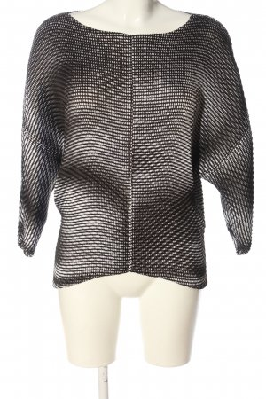 Issey miyake Blusa Crash marrone-bianco stampa integrale stile casual
