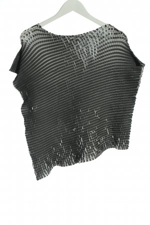 Issey miyake T-shirt nero-bianco motivo a quadri stile casual