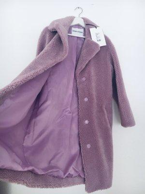 Stand Manteau en fausse fourrure mauve tissu mixte