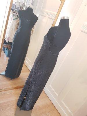 It´s Party time: silberglänzendes Abendkleid mit aufregendem Rückendekolleté, Gr. M