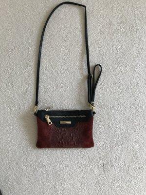 Genuine Leather Borsa clutch bordeaux-nero