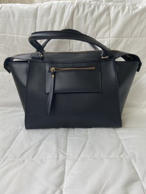Ital. schwarze Leder Tasche