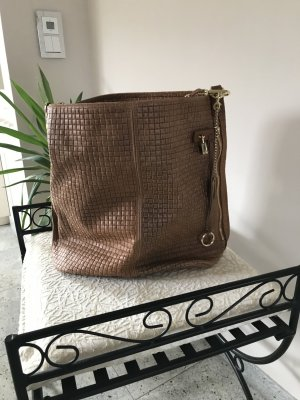 Genuine Leather Shopper cognac cuir