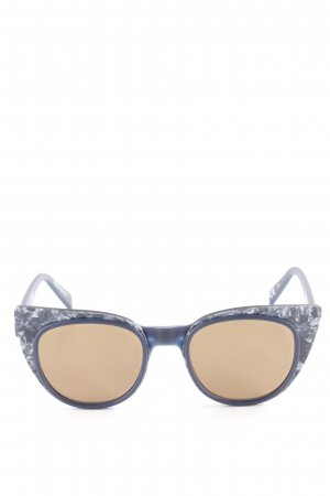 Italia independent Butterfly Glasses dark blue abstract pattern