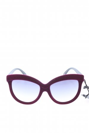 Italia independent Butterfly Glasses red casual look