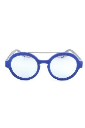 Italia independent Round Sunglasses blue-black extravagant style