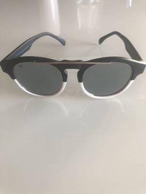 Italia independent Round Sunglasses white-black