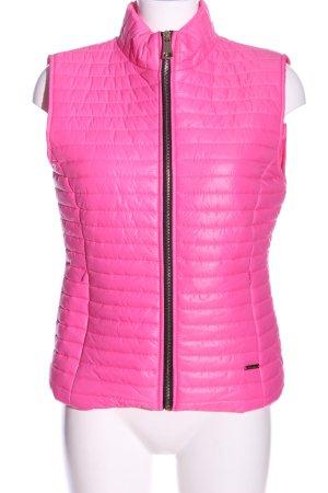 Italian Fashion Daunenweste pink Steppmuster Casual-Look