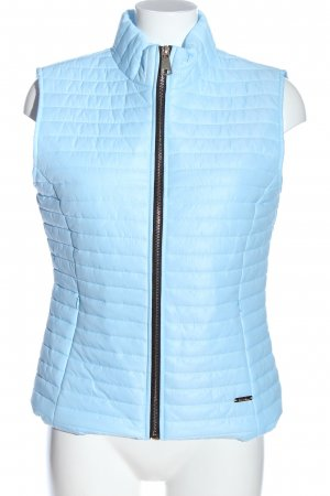 Italian Fashion Down Vest turquoise quilting pattern casual look