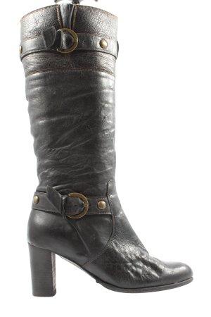 Italian Shoes Bottes à l'écuyère brun style décontracté