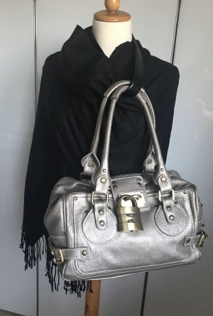 Bowling Bag grey brown leather